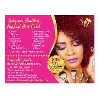 Natural Hair Care Salon Stylist Postcard Template