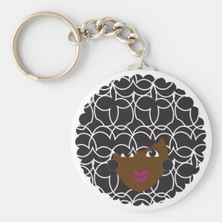 Natural Hair Curly Glam Key Ring