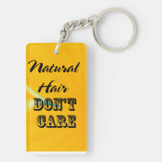 Natural hair dont care Chain Key Ring