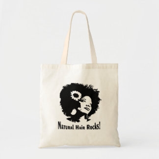 Natural Hair Rock! Budget Tote Bag
