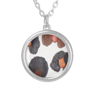 natural hair silver plated necklace