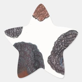 natural hair star sticker