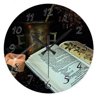 Natural Healing Large Clock