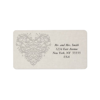 Natural HeartyChic Address Label