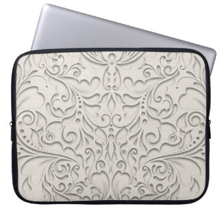 Natural HeartyChic Laptop Computer Sleeve