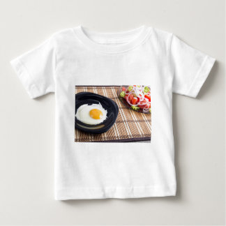 Natural homemade breakfast of fried egg and salad baby T-Shirt