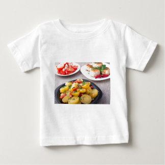 Natural homemade food closeup baby T-Shirt