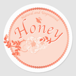 Natural Honey Classic Round Sticker