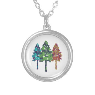 Natural Hues Silver Plated Necklace