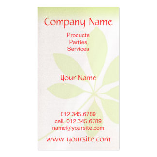 Natural Impression Business Card Template