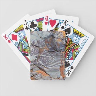 Natural layers of agate in a sandstone bicycle playing cards