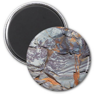 Natural layers of agate in a sandstone magnet