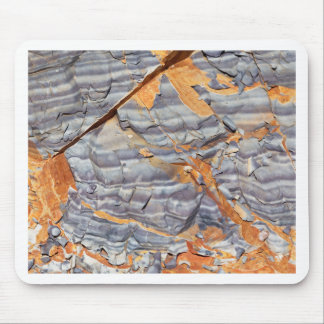 Natural layers of agate in a sandstone mouse pad