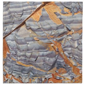 Natural layers of agate in a sandstone napkin