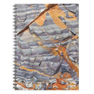 Natural layers of agate in a sandstone spiral notebook