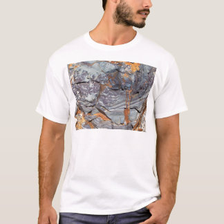 Natural layers of agate in a sandstone T-Shirt