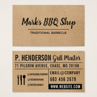 Natural   Layout   BBQ Business Card