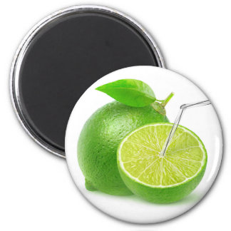 Natural lime juice 6 cm round magnet