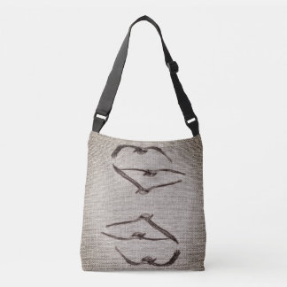 Natural linen crossbody bag