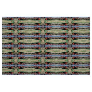 Natural Linen, WI Fall Scene Fabric