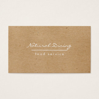 Natural Minimalist Brown Speckled Business Card