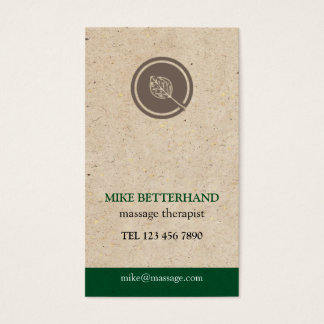 Natural Multi-Purpose Biz Card (green)
