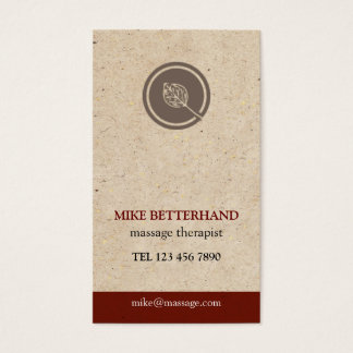 Natural Multi-Purpose Biz Card (red)
