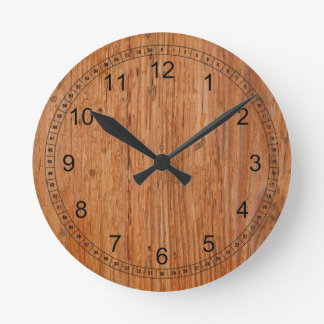 Natural Oak Wood Round Medium Clock