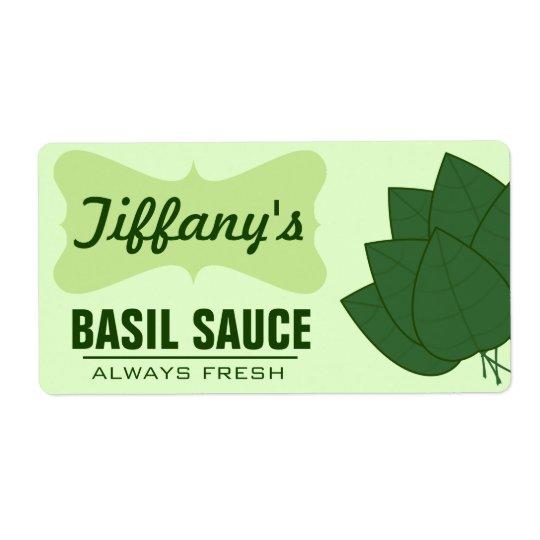 Natural Organic Basil Sauce