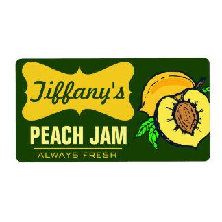 Natural Organic   Peach Jam   Handmade Jams Shipping Label