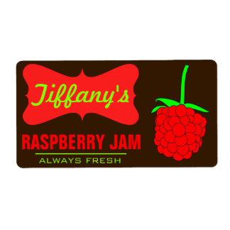 Natural Organic   Raspberry Jam   Handmade Jams Shipping Label