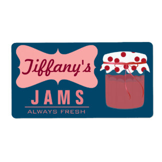 Natural Organic | Strawberry Jam | Handmade Jams Shipping Label