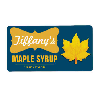 Natural | Pancake Syrup | Organic Maple Syrup Shipping Label