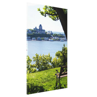 Natural Quebec Cityscape Canvas Print
