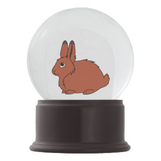 Natural Red Arctic Hare Snow Globes