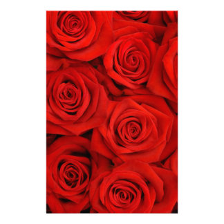 Natural red roses background personalized stationery