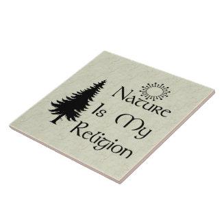 Natural Religion Large Square Tile