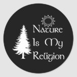 Natural Religion Round Stickers