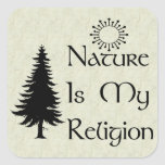 Natural Religion Square Sticker