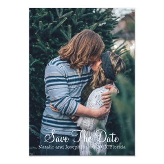 Natural | Sage and Caramel SAVE THE DATE PHOTO Card
