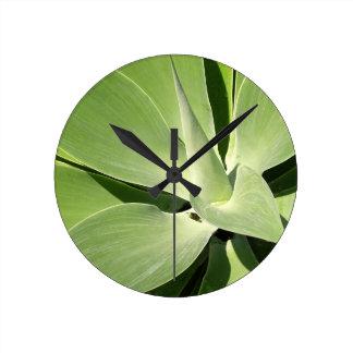 Natural Shades of Green Round Clock