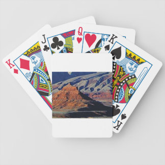 natural shapes of the desert bicycle playing cards