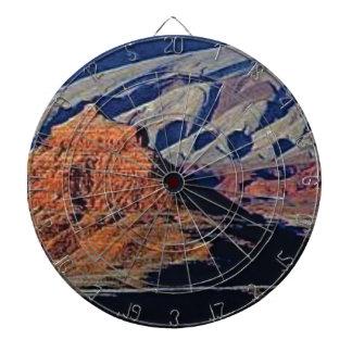 natural shapes of the desert dartboard
