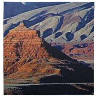 natural shapes of the desert napkin