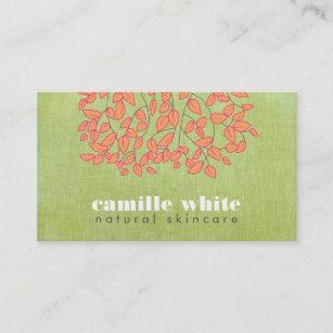 Organic skin care business cards zazzle au natural skincare beauty light green linen look business card colourmoves