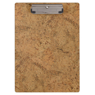 Natural Smoke Cork Bark Wood Grain Look Clipboard