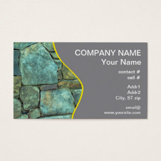 Natural stone exterior wall business card