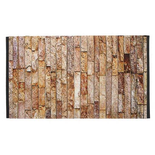 Natural Stone Marble Brick Look iPad Folio Covers