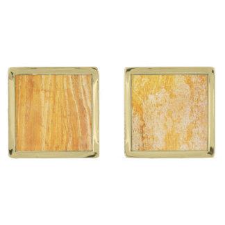 Natural Stone Pattern Cufflinks Gold Finish Cufflinks