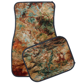Natural Stone-Rust N Turquoise Car Mats